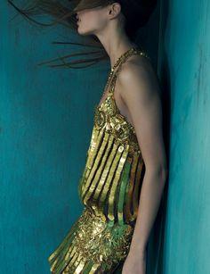 Georgina Stojiljkovic shot by Max Cardelli for Marie Claire UK Feb 2012