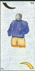 46 - LE JEUNE HOMME - Carte NEUTRE Jeune homme ou homme de moins de 30 ans. A l'endroit, brun - A l'envers, blond  Personnalité : Tempérament juvénile. Personne à l'énergie mal canalisée. Personne qui doit être cadrée. http://othoharmonie.unblog.fr/category/oracle-ge/