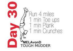 #toughmudder workout day 30 Tough Mudder Workout, Tough Mudder Training, Spartan Race Training, Spartan Workout, Mma Workout, Workout Days, Course À Obstacles, Obstacle Course Training, Ninja Warrior Course