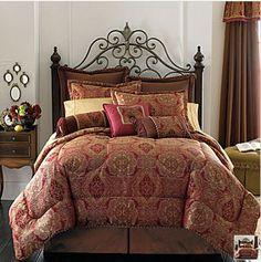 red comforter set-for pillow ideas-jc