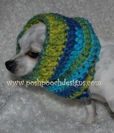 Posh Pooch Designs Dog Clothes: Dog Snood Crochet Pattern - For All Size Dogs Crochet Snood, Crochet Dog Sweater, Cute Crochet, Dog Crochet, Crochet Stitch, Irish Crochet, Snood Pattern, Free Pattern, Circle Pattern