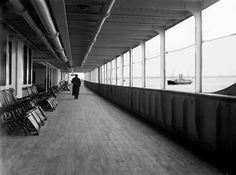 Amateur photographer Francis Browne was aboard the Titanic from Southampton to Cobh, Ireland and captured many images of the ship's interior, exterior, and voyage- The infamous deck chairs