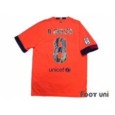 cabf9387d17 FC Barcelona 2014-2015 Away Shirt  8 A.Iniesta - Online Store From