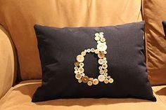 DIY no sew monogram pillow