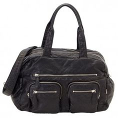 OiOi Faux Lizard Carry All Nappy Bag - Black