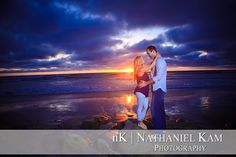 Oh, that sunset!    AndySarahWeb_0017 by nkamphoto, via Flickr