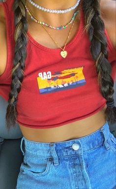 Teen Fashion Outfits, Mode Outfits, Retro Outfits, Cute Casual Outfits, Look Fashion, Summer Outfits, Moda Aesthetic, Aesthetic Clothes, Looks Pinterest