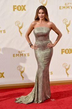 Sofia Vergara Emmys 2015   Brides.com