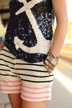 Look Navy + brilho = ♥