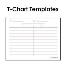 T Chart Templates Susan Wonderly Graphic Organizers