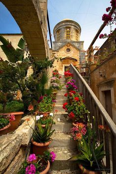 *GREECE ~ Let's welcome Spring from the Monastery of Agia Triada, Chania, Crete, Beautiful Islands, Beautiful World, Beautiful Places, Travel Around The World, Around The Worlds, Crete Island, Crete Greece, Crete Chania, Heraklion