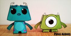 Available from today you can download and print your very own Mike & Sully. I hope everyone enjoys building them as much as I have creati...