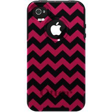 Cute+Otter+Boxes+for+iPhone+4S | Custom OtterBox Commuter Case for Apple iPhone 4 4S Black Pink Chevron ...