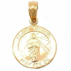 St. Jude Thaddeus Ch  St. Jude Thaddeus Charm 14k Gold 11.5mm ** You can find out more details at the link of the image. (This is an affiliate link and I receive a commission for the sales)