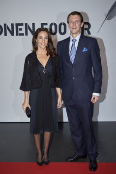 Princess Marie and Prince Joachim of Denmark arrive to the Danish Radio Concert Hall to participate in the celebration of the Reformation's 500th anniversary with a great concert on October 31, 2017 in Copenhagen, Denmark.