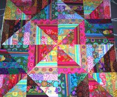 made from Jellyroll of RETIRED Kaffe Fassett fabric