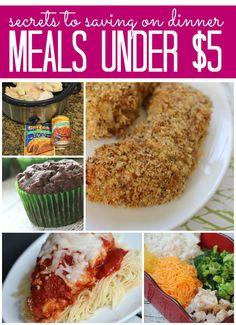 15 Meals Under $5   Secrets to Saving on Dinner   http://www.passionforsavings.com/2015/05/15-meals-under-5-secrets-to-saving-on-dinner/