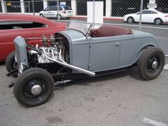 From Out of the Past, Deuce roadster with a Cadillac flathead V8.