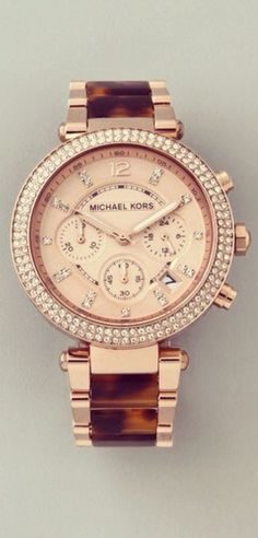 #Gold + #Brown #MichaelKors #MK #Watch ~