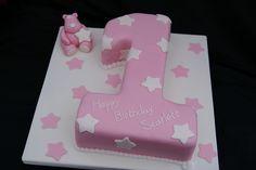 Pink Number 1 Cake | Flickr - Photo Sharing!