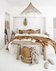 around the bed decor * around bed decor ; wall decor around bed ; decorate around bed ; decorating around bed ; around the bed decor ; bedroom decor around bed ; decorating around a murphy bed ; decor around bed headboards Bedroom Inspo, Home Decor Bedroom, Diy Bedroom, Bedroom Ideas, Bedroom Designs, Linen Bedroom, Bedroom Decor Natural, Nature Bedroom, Narrow Bedroom