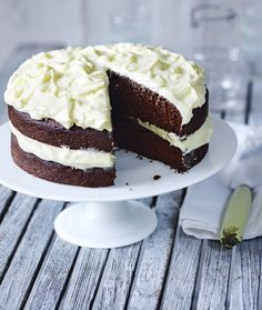 A moist chocolate cake that really can't go wrong and keeps well. It's white chocolate icing  looks stunning too