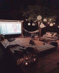 my cozy tree house — Movie night.