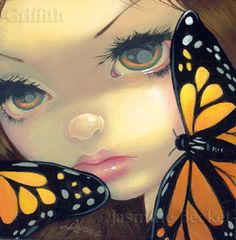 Faces of Faery #119 Monarch Butterfly by Jasmine Becket-Griffith