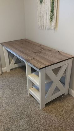 Photo Credit: PorterBuilt Furniture DIY Farmhouse Desk plans that will make your home office pop! Need an office farmhouse desk to spice up the home office? These Farmhouse Desk Plans will make your home office come to life. Farmhouse Desk, Farmhouse Furniture, Rustic Furniture, Cheap Furniture, Modern Furniture, Diy House Furniture, Building Furniture, Furniture Stores, Discount Furniture