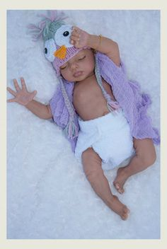 First attempt by artists at making an African American or Bi-racial reborn baby doll