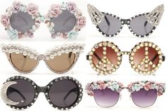 sunglasses... i like the cat eye with pearls <3