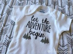 DIY Baby Onesies with the Cricut - - Dress your littles in style with these DIY baby onesies! Your Cricut makes these baby favorites easy to put together—and they are perfect for baby showers! Diy Baby Gifts, Newborn Gifts, Personalized Baby Gifts, Baby Crafts, Onesie Diy, Diy Baby Boy Onesies, Cute Onesies For Babies, Newborn Onsies, Baby Boys
