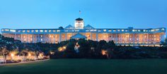 Grand Hotel (from Somewhere in Time)! is located on Mackinac Island, MI where automobiles are not allowed. Family-owned for three generations, this National Historic Landmark is truly one of a kind.
