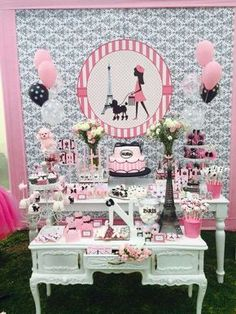 Wendy Bedoya Party Studio's Birthday / Glamour in Paris - Paris at Catch My Party Paris Themed Birthday Party, 10th Birthday Parties, Birthday Party Themes, Girl Birthday, Paris Prom Theme, Parisian Party, Barbie Party, Thinking Day, Spa Party