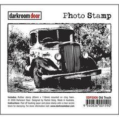 Darkroom Door Photo Stamp - Old Truck