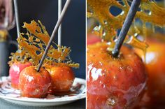 Toffee Apples, Halloween food Photography ©Holly Pickering