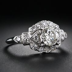 I think I just died... .81 Carat Late Art Deco Diamond Engagement Ring - 10-1-4965 - Lang Antiques
