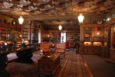 Hearst Castle Library interior | by Filosoph