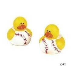 Two Dozen (24pc) Baseball Rubber Duck Party Favors $12.95