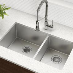 Exceptional Kitchen Remodeling Choosing a New Kitchen Sink Ideas. Marvelous Kitchen Remodeling Choosing a New Kitchen Sink Ideas. Best Kitchen Sinks, Kitchen Sink Faucets, New Kitchen, Cool Kitchens, Kitchen Ideas, Kitchen Designs, Granite Kitchen, Kitchen Cabinets, Double Kitchen Sink