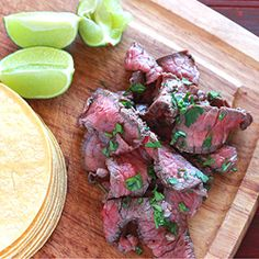 Tequila Lime Skirt Steak ~ tequila and lime are my favorite marinade...
