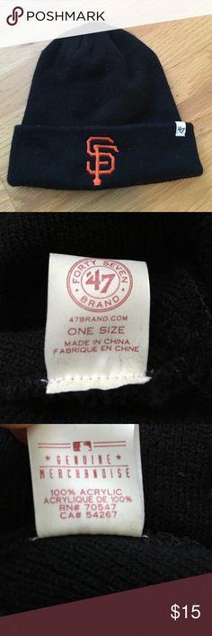 San Francisco Giants beanie Giants beanie, excellent condition 47 Accessories Hats