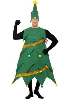 Christmas Tree Costume Deluxe, Christmas Tree Fancy Dress - Christmas Costumes at Escapade™ UK