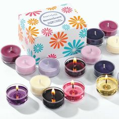 Look what's back for May!! Black Orchid, Raspberry & Thyme, Unwind, Citrus Bloom Citronella and Strawberry Rhubarb. Enjoy these favorite tealights by the box or the 15-piece ReminiScent Tealight Sampler. #PartyLite www.partylite.biz/dbwaxwithcare
