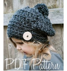 Crochet PATTERN-The Gabrielle Beret Toddler Child and Adult
