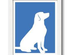 Labrador Retriever Print (version 2) - Labrador Retriever Silhouette