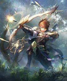 Card: Kel, Holy Marksman Fantasy Character Design, Character Design Inspiration, Character Concept, Character Art, Concept Art, Fantasy Kunst, Dark Fantasy Art, Fantasy Artwork, Fantasy Characters