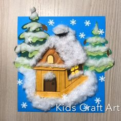 Paper winter craft for kids Winter house snow Winter crafts for kids snow house Winter Crafts For Kids, Diy For Kids, Kids Crafts, Diy Arts And Crafts, Cute Crafts, Paper Crafts, Winter Christmas, Christmas Crafts, Christmas Decorations