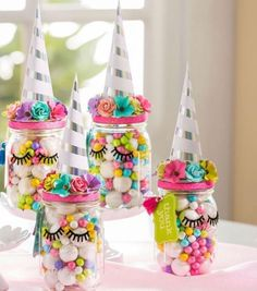 Unicorn birthday party decorations for a girl birthday - Unicorn Party Favors Unicorn Themed Birthday Party, 10th Birthday Parties, 5th Birthday, 7th Birthday Party For Girls Themes, Candy Themed Party, Rainbow Unicorn Party, 1st Birthdays, Birthday Gifts, Baby Party Favors
