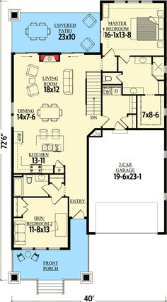 Craftsman Cottage With Sturdy Front Porch - 95019RW | 1st Floor Master Suite, Bungalow, CAD Available, Cottage, Country, Craftsman, Den-Office-Library-Study, Narrow Lot, Northwest, PDF | Architectural Designs